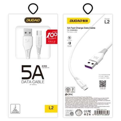 Dudao przewód kabel USB / USB Typ C 5A 1m biały (L2T 1m white)