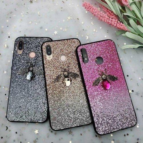 Etui Bee Glitter IPHONE 6 różowe