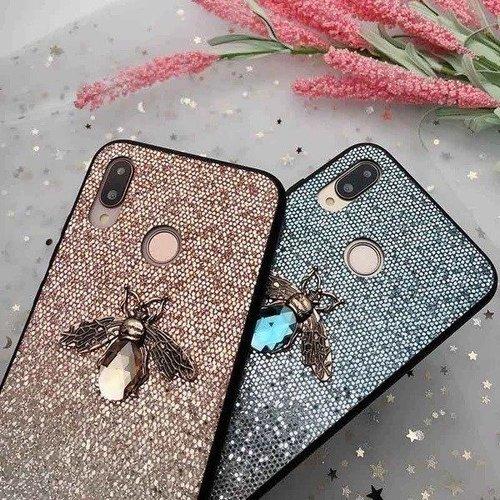 Etui Bee Glitter SAMSUNG GALAXY A10 niebieskie