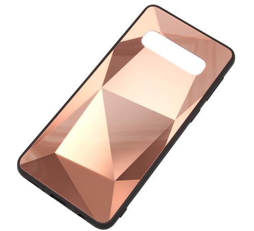 Etui Diamond Stone SAMSUNG GALAXY A7 2018 różowe złoto