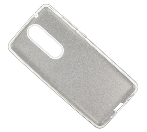 Etui Glitter NOKIA 5.1 srebrne