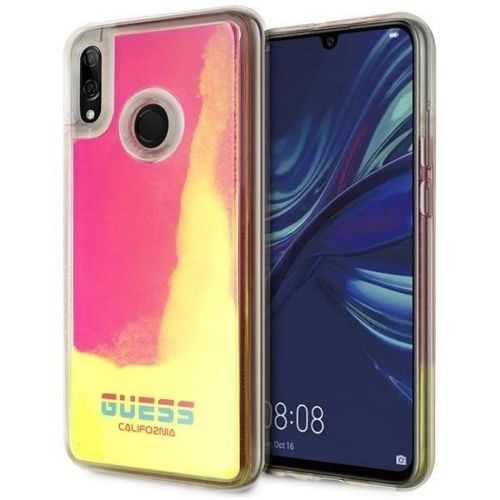 Etui Guess GUHCHPS19GLCPI Huawei P Smart 2019 różowy/pink hard case California Glow in the dark
