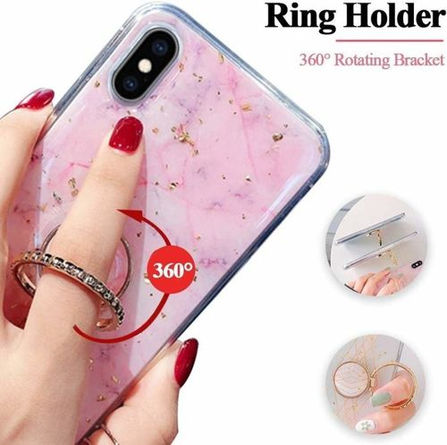 Etui HUAWEI P SMART 2019 Marble Ring turkusowe