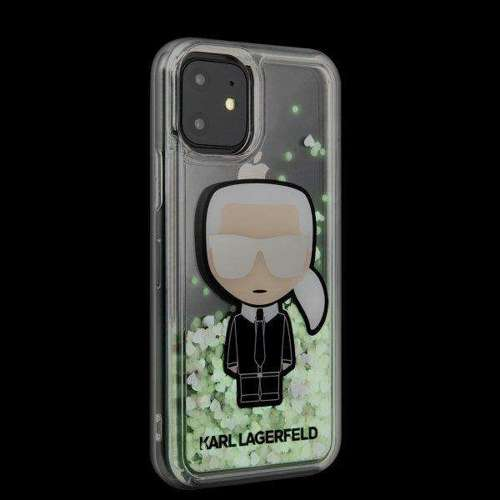 Etui Karl Lagerfeld KLHCN61GLGIRKL iPhone 11 hardcase Ikonik Glitter Glow in the dark
