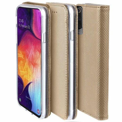 Etui LG K40S portfel z klapką Flip Magnet złote