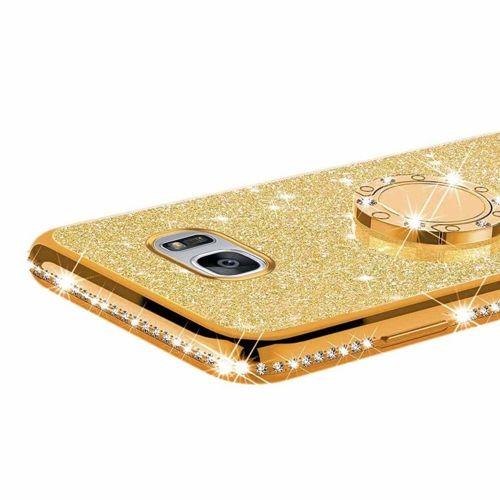 Etui MOTOROLA MOTO E6+ PLUS Diamond Ring Brokat złote