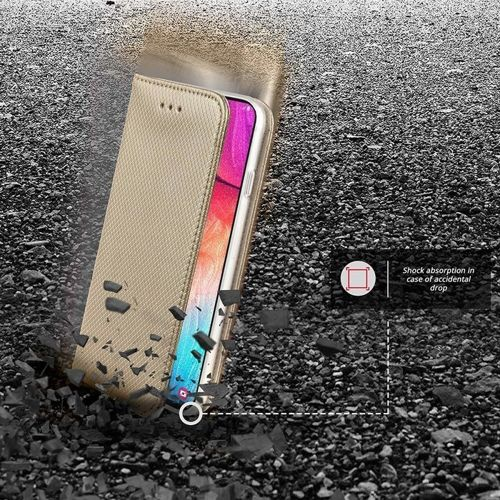 Etui MOTOROLA MOTO G8+ PLUS portfel z klapką Flip Magnet złote