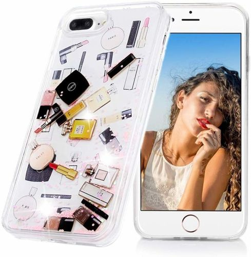 Etui SAMSUNG GALAXY A50 Liquid Make Up Brokat różowe