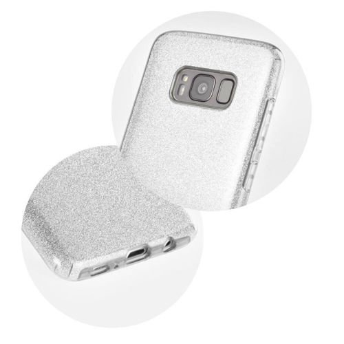 Etui SHINING Samsung Galaxy A12 srebrny