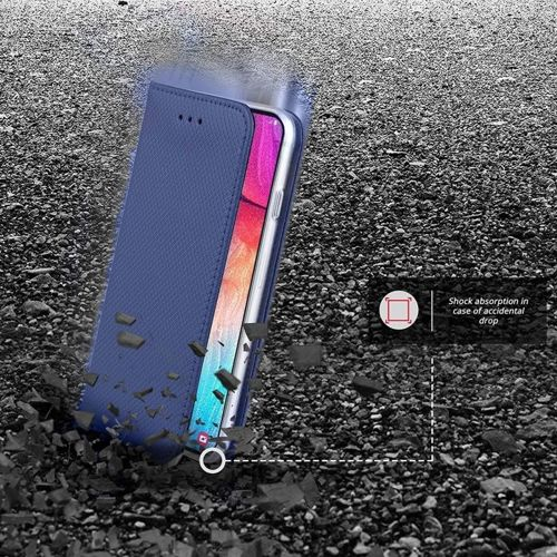Etui Samsung Galaxy A51 portfel z klapką Flip Magnet granatowe