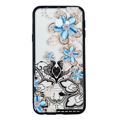 Etui Slim Art SAMSUNG J4+ J4 PLUS niebieski kwiat