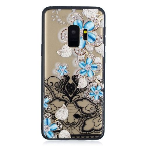 Etui Slim Art SAMSUNG S9 niebieski kwiat 2
