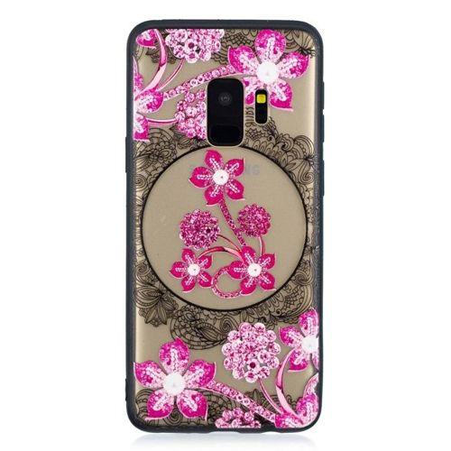 Etui Slim Art SAMSUNG S9 różowy kwiat