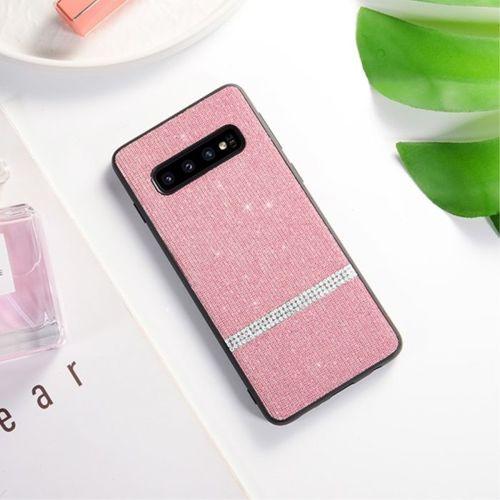 Etui Slim case Brokat Glitter SAMSUNG GALAXY S10 różowe