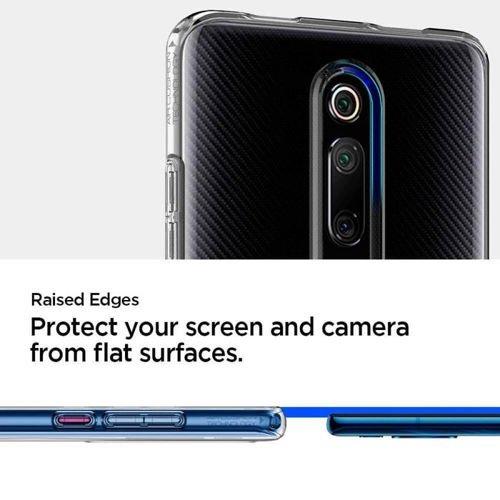 Etui Spigen LIQUID Crystal Xiaomi Mi9t / Mi9t PRO przezroczysty +szkło 3MK HG Lite