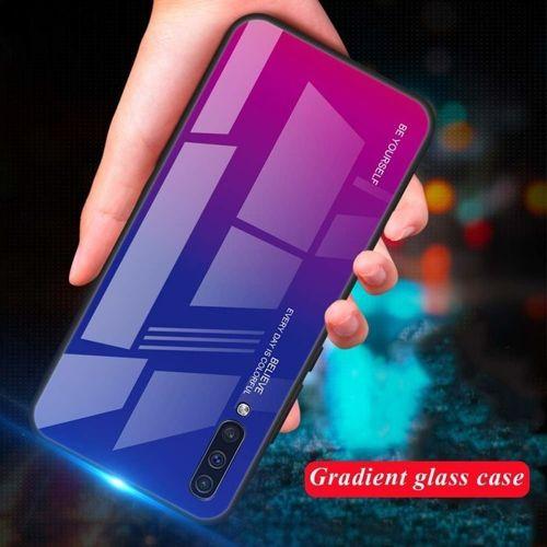 Etui Szklane Glass case Gradient HUAWEI P SMART Z niebiesko-różowe