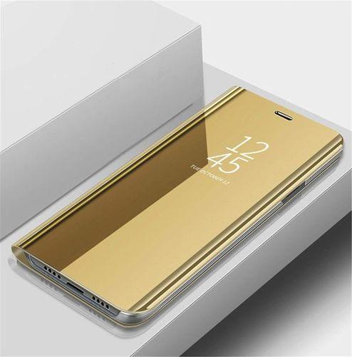 Etui XIAOMI REDMI 7A Clear View Cover z klapką złote