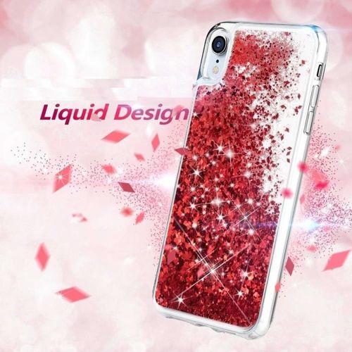 Etui XIAOMI REDMI 8 Liquid plecki brokatowe czerwone
