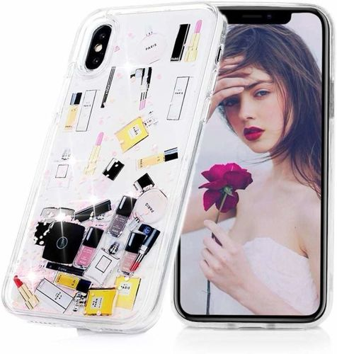 Etui XIAOMI REDMI NOTE 8 PRO Liquid Make Up Brokat różowe