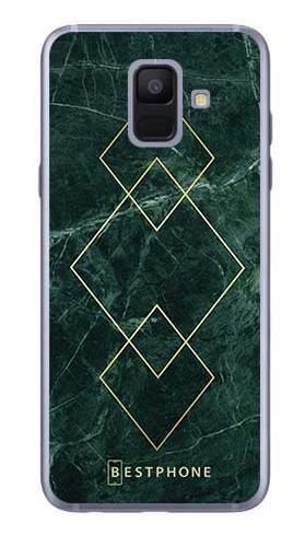 Etui art deco marmur zielony na Samsung Galaxy A6