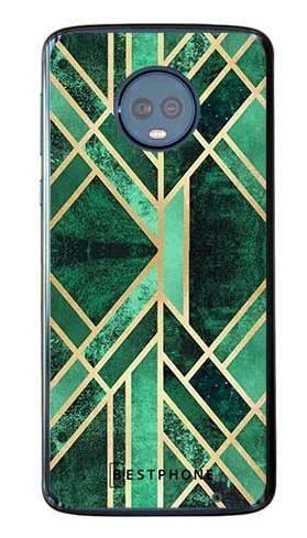 Etui art deco szamaragdowe na Motorola Moto G6 Plus