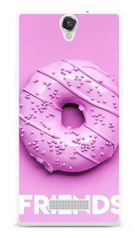 Etui dla przyjaciół friends donut fioletowy na MyPhone Cube
