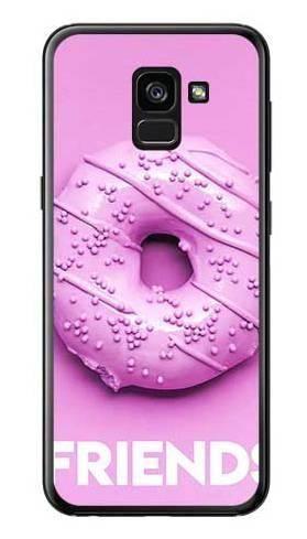 Etui dla przyjaciół friends donut fioletowy na Samsung Galaxy A7 2018