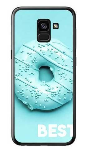 Etui dla przyjaciół friends donut niebieski na Samsung Galaxy A7 2018
