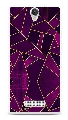 Etui geometria fioletowa na MyPhone Cube