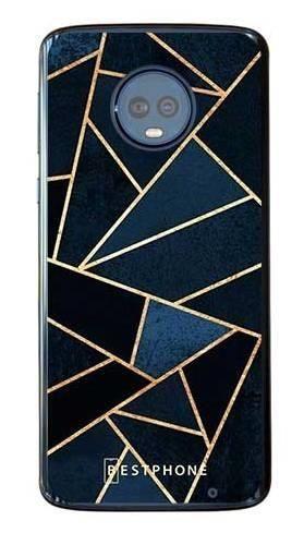 Etui geometria granatowa na Motorola Moto G6 Plus