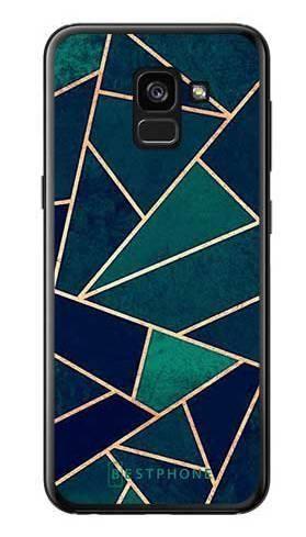 Etui geometria turkus na Samsung Galaxy A7 2018