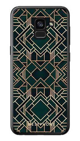 Etui geometria zielona na Samsung Galaxy A7 2018