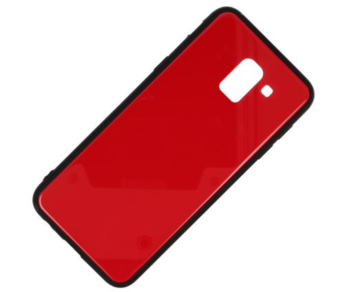 Etui glass case SAMSUNG J6 2018 czerwone