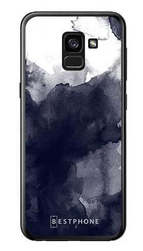 Etui granatowa akwarela na Samsung Galaxy A7 2018