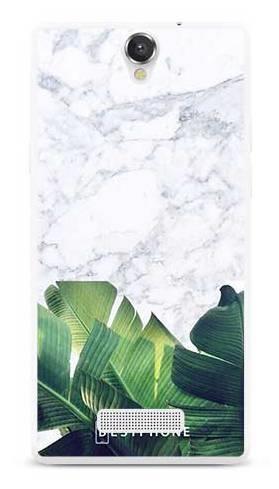 Etui marmurowe liście na MyPhone Cube
