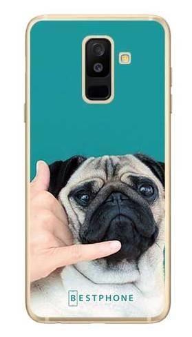 Etui mops call me na Samsung Galaxy A6 Plus