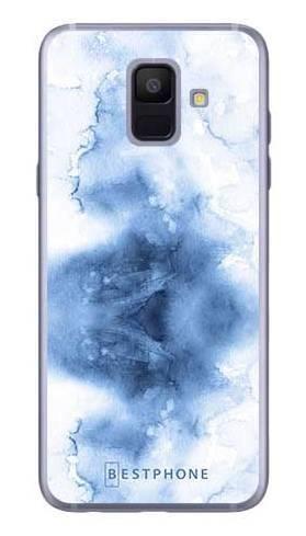 Etui niebieska akwarela na Samsung Galaxy A6