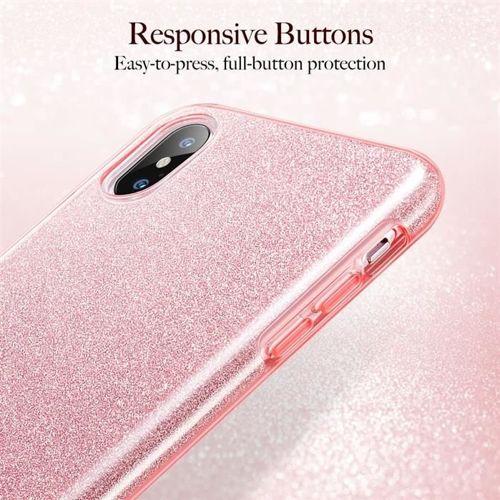 Etui pokrowiec ESR GLITTER SHINE IPHONE XS MAX ROSE GOLD