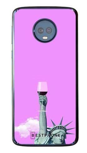 Etui posąg z winem na Motorola Moto G6 Plus