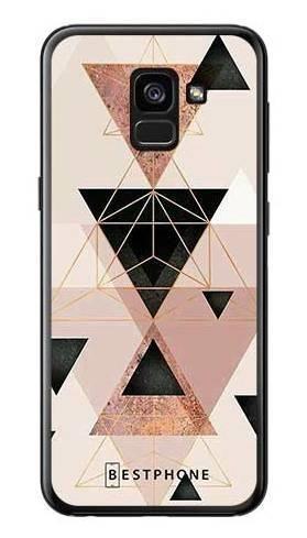 Etui trójkąty pudrowe na Samsung Galaxy A7 2018