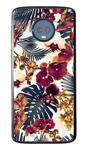 Etui tropikalne kwiaty na Motorola Moto G6 Plus