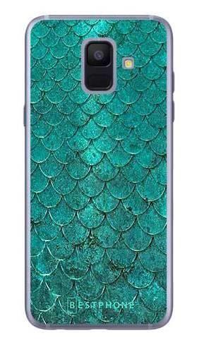 Etui turkusowa rybia łuska na Samsung Galaxy A6