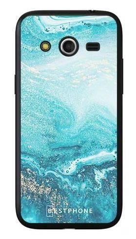 Etui turkusowy marmur na Samsung Galaxy Core LTE
