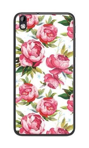 FANCY HTC Desire 816 różowe kwiaty