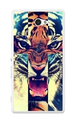 FANCY Sony XPERIA M2 tygrys krzyż