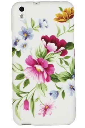 FLOWER HTC Desire 816 pastelowe kwiatki