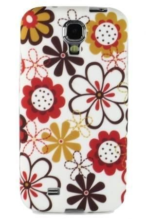 FLOWER Samsung GALAXY S4 brązowe kwity