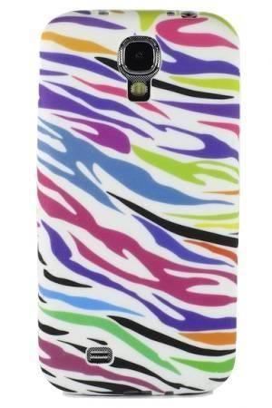 FLOWER Samsung GALAXY S4 kolorowa zebra