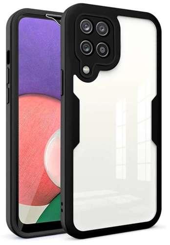 FULL BODY 360 pancerne etui pokrowiec Samsung Galaxy A22 4G czarny