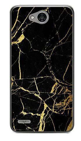 Foto Case LG X POWER 2 czarno złoty marmur